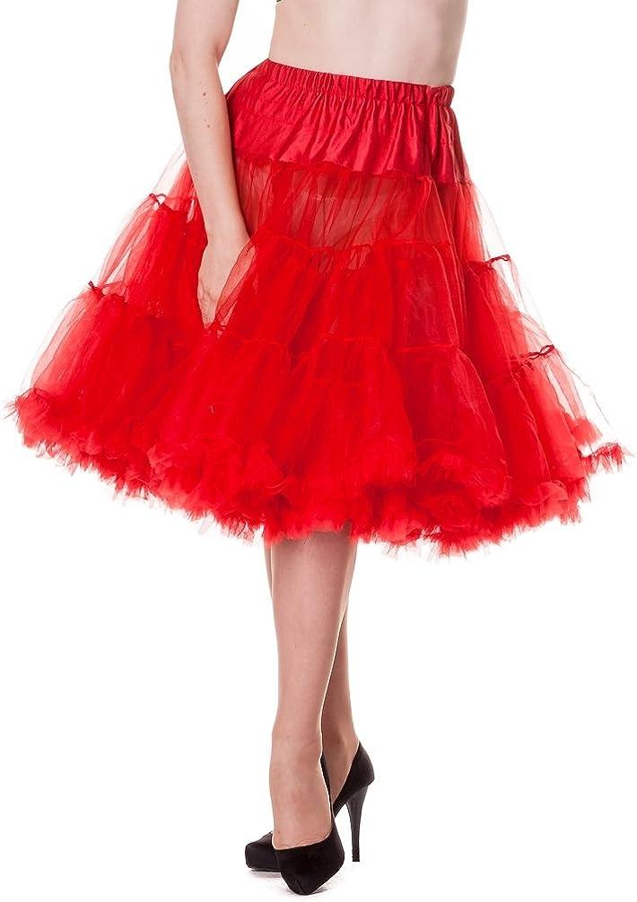 Hell Bunny Plus Size Rockabilly 50s Gothic Retro Red Long Voluminous Petticoat