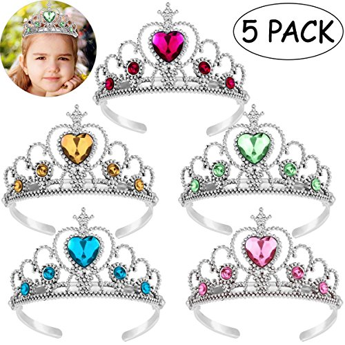 Toyvian Corona de Princesa para niña – Vestir Accesorios de Fiesta, corazón Tiara, Favor de Fiesta, Set…
