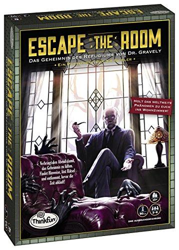 ThinkFun 76310 - Escape the Room - Das Geheimnis des Refugiums von Dr. Gravely