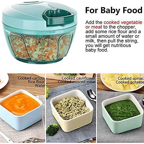 Kitchenaid keukenmachine | voedselmolen - Kruidenmolen Knoflookpers Gember Knoflookmolen Mini Handleiding Groentehakker - Draagbare keukenmachine voor groenten Knoflook Ui en vlees (blauw)