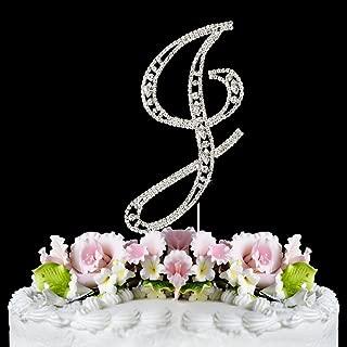 Vintage ~ Swarovski Crystal Wedding Cake Topper ~ Letter J