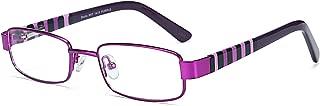 ZENOTTIC Blue Light Blocking Glasses for Kids Square Metal Frame Anti Blue Ray Computer Game Glasses
