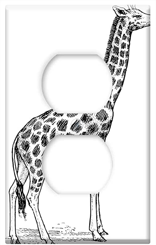 Switch Plate Outlet Cover Giraffe Animal Zoo Wildlife Neck Tall Safari