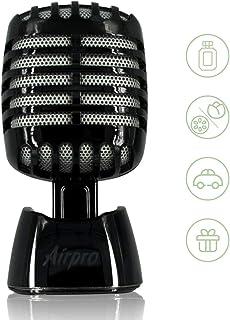 Airpro Luxury Mic Man Black - Velvet Mask Fragrance - Car Air Freshner Perfume Fragrance
