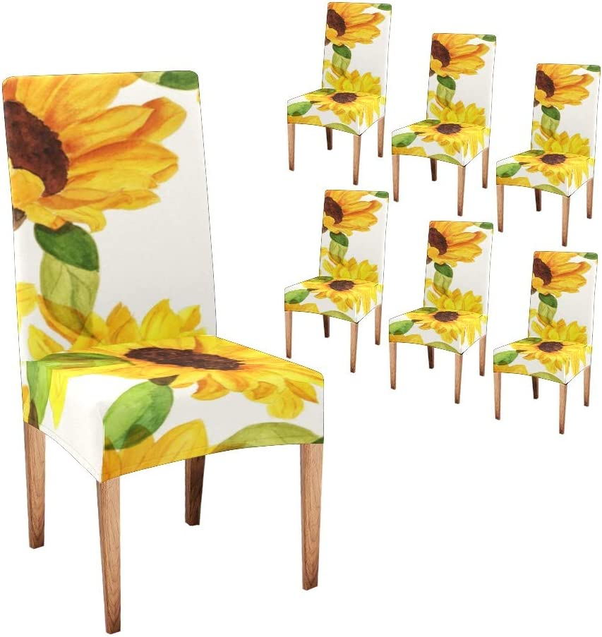 Oakland Mall Anneunique CUXWEOT Chair Covers for Dining Room Su Yellow Custom trust