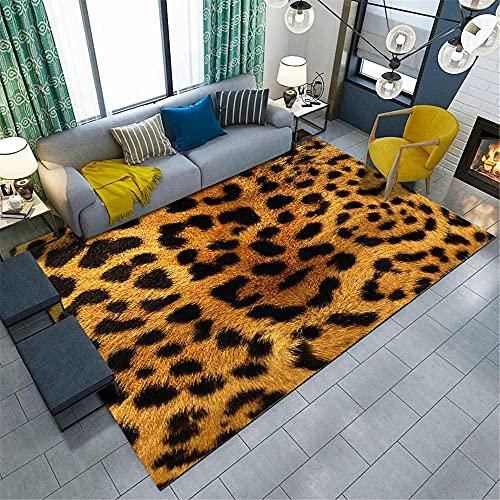 Alfombra Entrada casa Interior,Alfombra Amarilla y Negra, Elementos de los Elementos de Animales balcón Anti-ácaro arrastrándose la Alfombra de Sonido ,alfombras para dormitorios -Amarillo_120x160cm