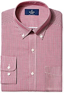 Amazon Brand - BUTTONED DOWN Men's Classic Fit Gingham...