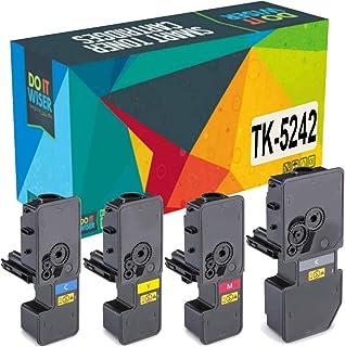 Best Do it Wiser Compatible Toner Cartridge Replacement for TK-5242 Kyocera Ecosys M5526cdw P5026cdw P5026cdn M5526cdn   TK-5242K TK-5242C TK-5242M TK-5242Y (4 Pack) Review