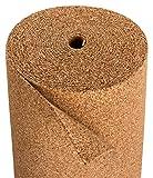 Tappi fonoassorbenti in sughero | Isolamento per laminato e parquet | Adatto per riscaldamento a pavimento | Tappi in sughero naturale in Portogallo – 10 x 1 m – Spessore 4 mm