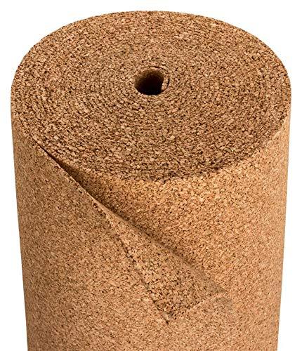 Kork Trittschalldämmung | Dämmung für Laminat & Parkett | Geeignet für Fußbodenheizung | Rollenkork als Laminatunterlage | Naturkork aus Portugal – 10 x 1 m – Stärke 4mm