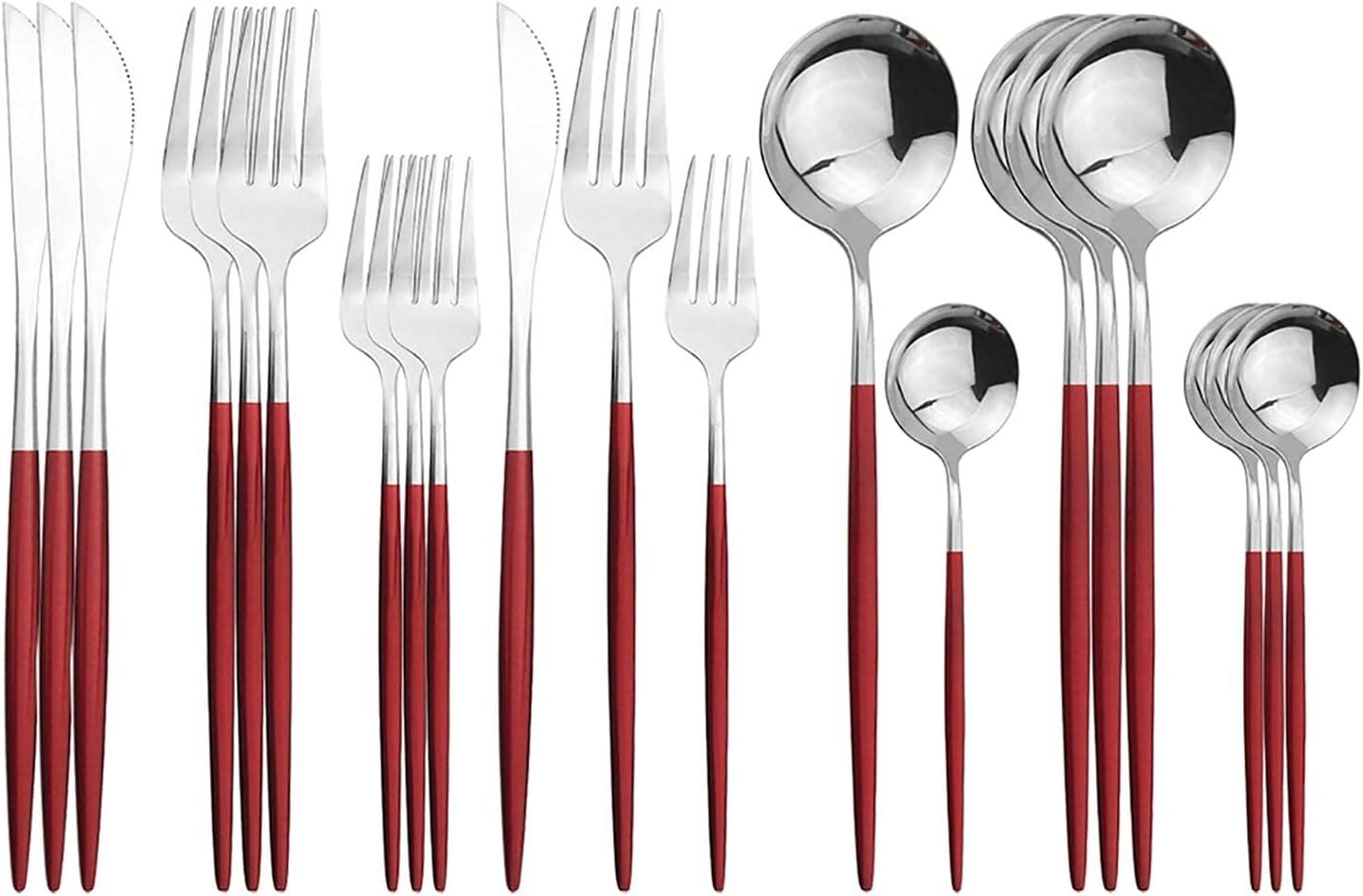 Silverware Set Mirror Trust Finish Cutlery 20-Piec Daily Tableware Now on sale