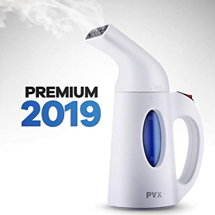 Pax steamer for clothes, Travel and Home Handheld Garment Steamer, 60 Seconds Heat-Up, Fabric Steamer With Automatic shut-off safety protection, small, white