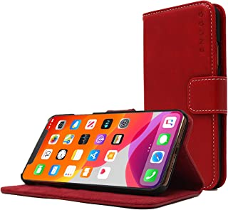 Snugg iPhone 11 Pro Wallet Case – Leather Card Case Wallet with Handy Stand Feature – Legacy Series Flip Phone Case Cover in Dusty Cedar Red