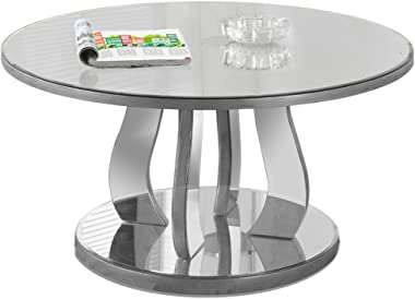 """Monarch Specialties Accent Cocktail Coffee Table, 18"""" H, Brushed Pewter"""