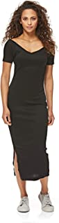 فستان منسوج للنساء من تشيب مونداي، لون اسود، مقاس XS