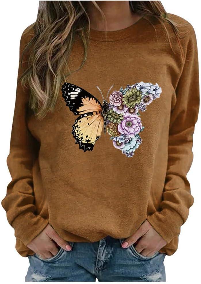Eoailr Sweatshirt for Women Womens Washington Mall Max 84% OFF Graphic Crewneck