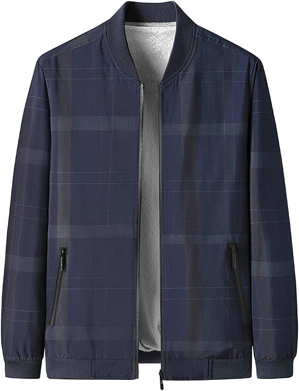 Huangse Men's 2021 Fashion Striped Bomber Jacket Full Zip Waterproof Varsity Baseball Jacket Autumn Thin Coat