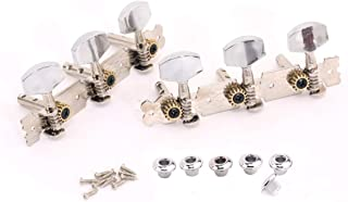 Musiclily 3 on a Plate Short Acoustic Guitar Tuning Pegs keys Machine Heads Tuners Set,Metal Button Nickel