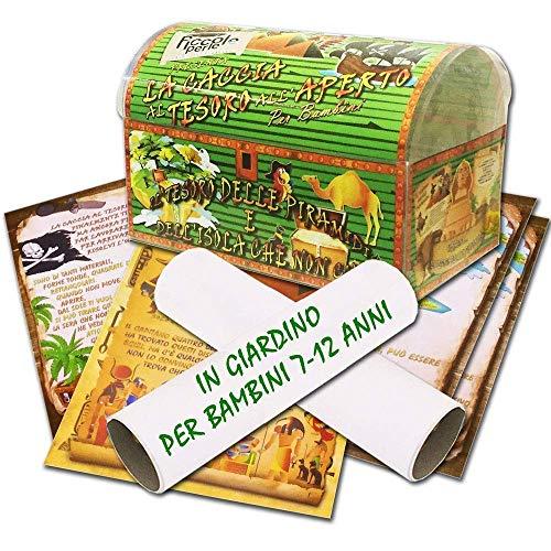 Caccia al tesoro in scatola in giardino - in spiaggia o casa/giardino 7-12 anni - per feste di compleanno - giochi per bambini