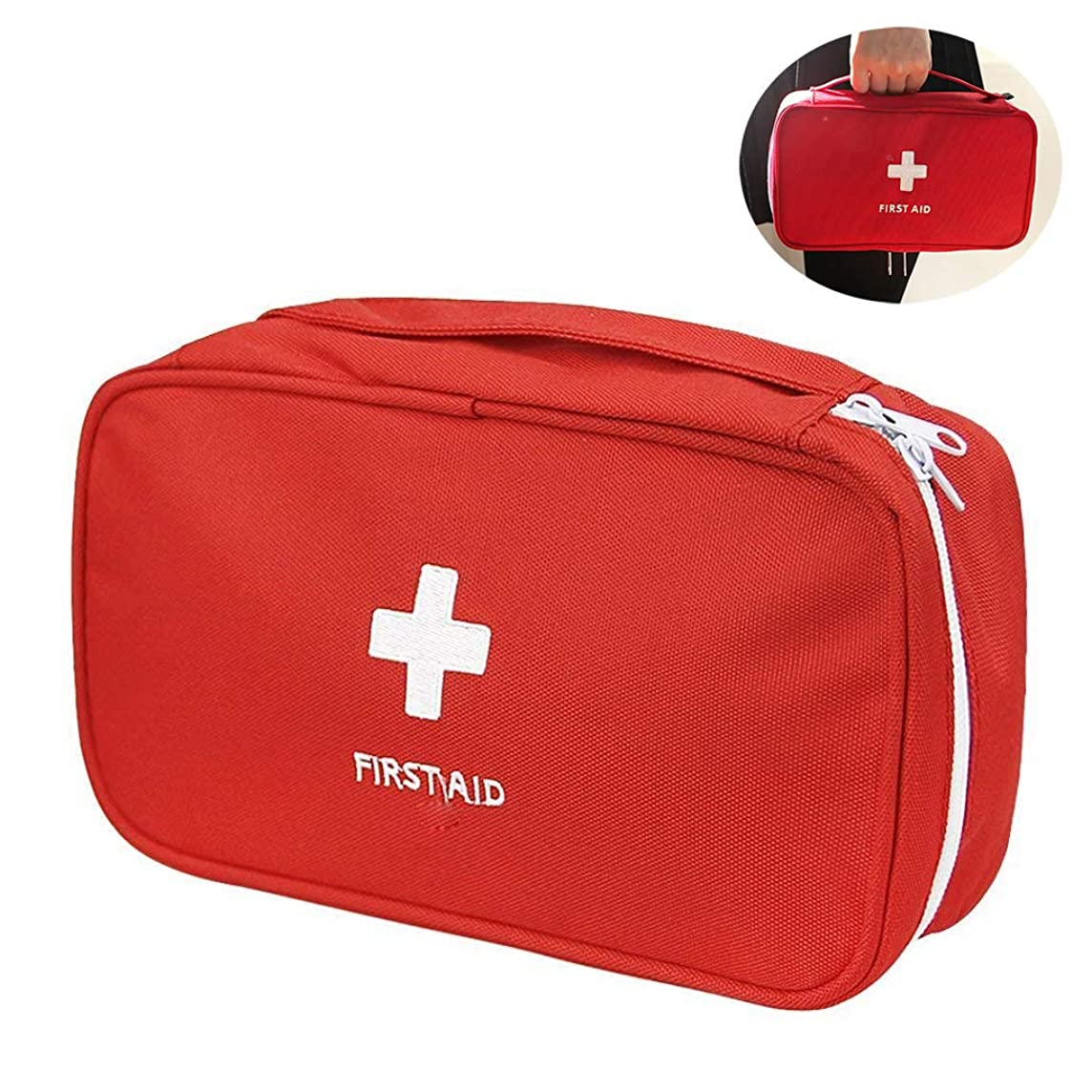 iMapo Portable Mini First Aid Kit, Empty Travel Medicine Bag, Small Medical Organizer Storage Pouch, Pill Drug Package Container for Outdoor Activities Sports Camping Hiking Emergency (Bag ONLY)