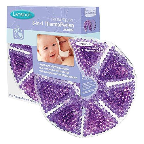 Lansinoh 10500 3-in-1 Thermoperlen - Kühl & Wärmekissen für die Brust - 2 Stück mit Schutzvlies