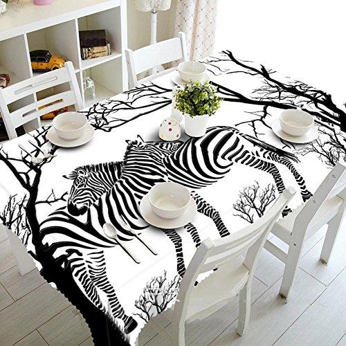 Chen Nappes Table Basse Nappe Moderne Minimaliste Tissu Rectangle 3D IKEA Style Nordique Bureau Tissu Nappe Tissu Meuble TV (Size : Oblong 80cm*130cm)