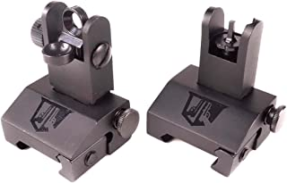 Ozark Armament Flip Up Backup Battle Sights Picatinny Mount Flat-top Upper Co-Witness Iron Sights BUIS