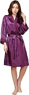JZLPIN Women Sexy Pure Colour Bathrobe Robes Dressing Gown Nightwear Housecoat