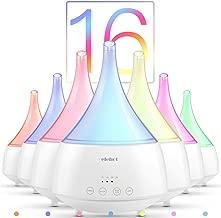 Diffusore di Oli Essenziali Aromi Aromaterapia Ambiente 300ml 16 LED Colorati ad Ultrasuoni Elettrico Umidificatore Ambienti 4 Impostazioni Timer Silenzioso di ELEHOT