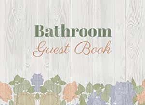 Bathroom Guest Book: Toilet Restroom Log with Prompts for House Warming, Christmas Holidays, Birthday, Anniversary | White...