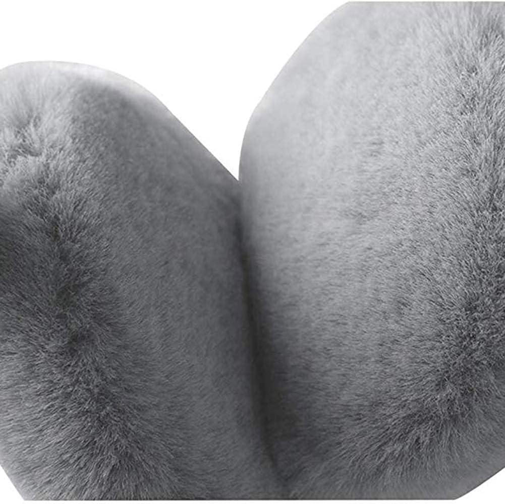 Hitc Soft Winter Warm Adjustable Headband Ear Warmer Earmuffs,Headband Fur Earwarmer,Couple Earmuffs Unisex Winter Warm Earmuffs Winter Knitted Earmuffs