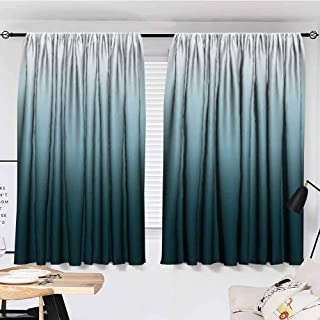 flymeeo Ombre Art Bathroom Country Curtains Valance Long Home Decorations Ombre Colorful Design White Teal Curtains Living Room