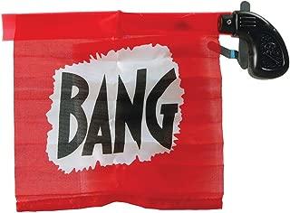 Bristol Novelty GJ408 Flag Bang Gun Party Accessory Set, Red/Black, One Size
