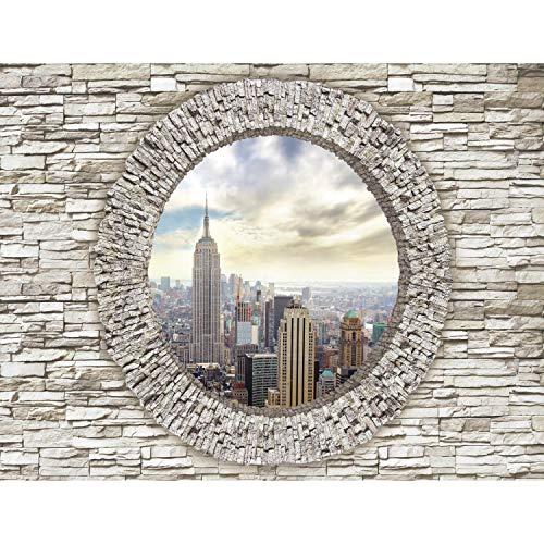 Fototapeten 396 x 280 cm Fenster New York   Vlies Wanddekoration Wohnzimmer Schlafzimmer   Deutsche Manufaktur   Weiss 9109012c