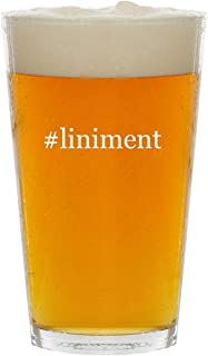 #liniment - Glass Hashtag 16oz Beer Pint