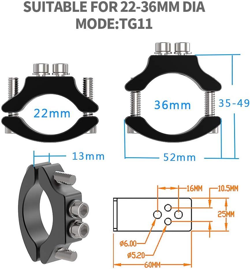 1PC Staffe Faro Moto,Universale Accessori per Morsetti per Forcella Anteriore per Staffa di Montaggio del Supporto della Luce del Tubo del Motociclo 22MM-36MM