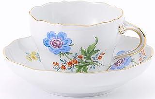 【正規輸入品】 マイセン [MEISSEN] 花柄 「アネモネ」 ティー/コーヒー 兼用カップ&ソーサー 04C007/00582