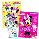 Disney Minnie Mouse Coloring Book Set with Stickers -- 2 Deluxe Coloring Books and over 150 Stickers