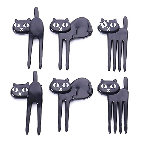 NUOMI 6Pcs Animal Food Picks and Forks for Kids Bento Box Decoration, Fruit Party Picks Accessories