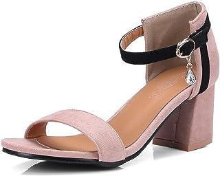 BalaMasa Womens ASL06539 Pu Block Heels