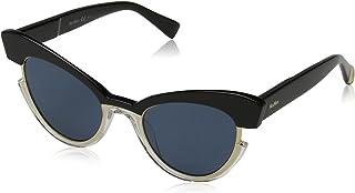 نظارة شمسية للنساء ام ام انغريد KU 7C5 49 من ماكس مارا، لون اسود كريستال/ ازرق