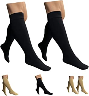 HealthyNees Closed Toe 15-20 mmHg Compression Plus Size...