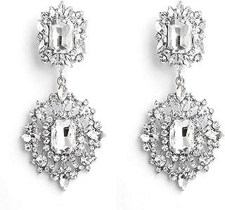 Crystal Silver Earrings for Women Fashion Drop Hook Jewelry Gift
