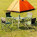 Costzon Kids Portable Folding Table and 4 Chairs Set, Steel Lightweight Outdoor Indoor Compact Set for BBQ, Camping, Fishing, Travel, Hiking, Garden, 600D Oxford with Carry Bag