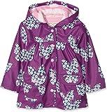 Hatley Girl's Printed Raincoat, Purple (Butterflies And Buds), 3 Years