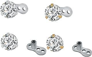 Best diamond microdermal piercing Reviews