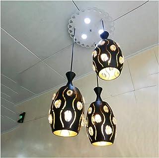Hierro Labrado Vintage Lámpara De Techo, 3 Calefactores Creativos Lámpara Colgante, E27 / E26 Leche Casa De Té Hot Pot Shop Luz De Techo, Estilo Europeo Araña Iluminación