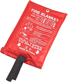Genubi Industry Fiberglass Fire Blanket for Emergency Surival, Heavy-Duty Fire Blanket Flame Retardant Protection and Heat Insulation for Grill, Car, Camping