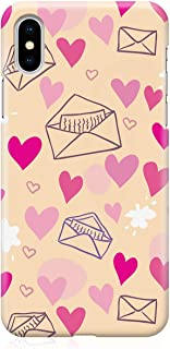Loud Universe Case for iPhone XS Wrap around Edges Valentines Day Couples Love Letter Heart Pattern Sleek Design Heavy Dut...