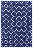 Mint Rugs Luna-Alfombra de Pelo Largo (160 x 230 cm, 100% Polipropileno, Apta para calefacción por Suelo Radiante), Color Azul y Crema